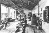 La segheria Bassani, in una foto degli anni Venti